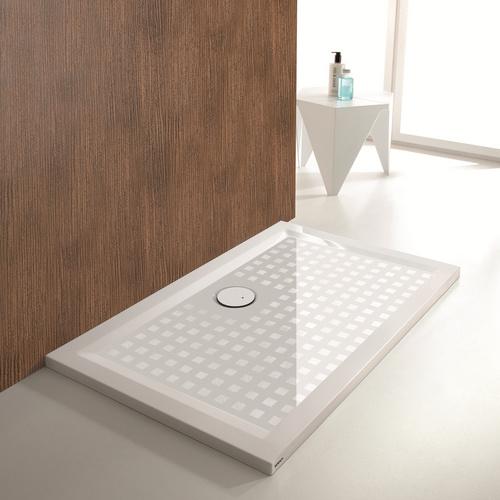 Muna Quadrat-Duschwanne ohne Antirutschoberfläche 120 x 120 x 1,5 cm