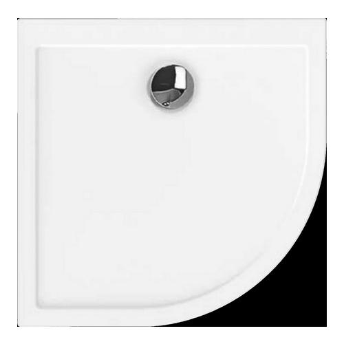 Samar Viertelkreis-Duschwanne ultraflach 100 x 90 x 2,5 cm