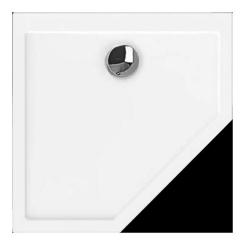 Samar Fünfeck-Duschwanne ultraflach 100 x 100 x 20 cm