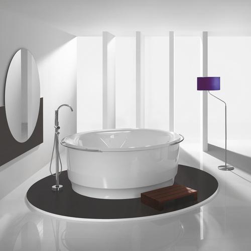 hoesch tondo rund badewanne freistehend mit au enverkleidung durchmesser 1700 x 1146 x 500 mm. Black Bedroom Furniture Sets. Home Design Ideas