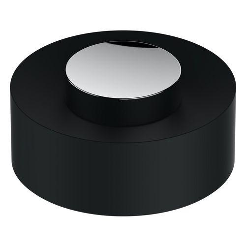 Kunststoff-Deckel Universalart.04989, verchromt/weiß