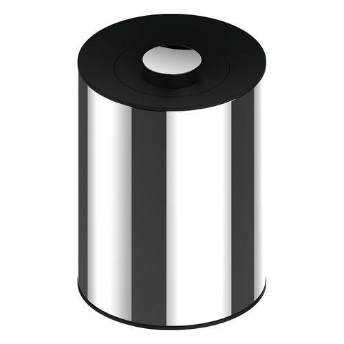 Abfallbehälter Universalartikel 04989 Edelstahl/schwarzgrau