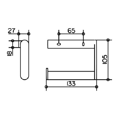 keuco plan toilettenpapierhalter offene form edelstahl design in bad. Black Bedroom Furniture Sets. Home Design Ideas