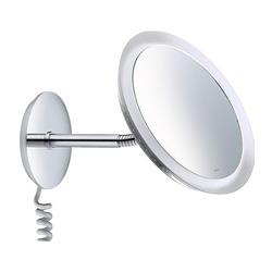 BELLA VISTA Kosmetikspiegel 3-fach, beleuchtet, Wandmodell mit Spiralkabel