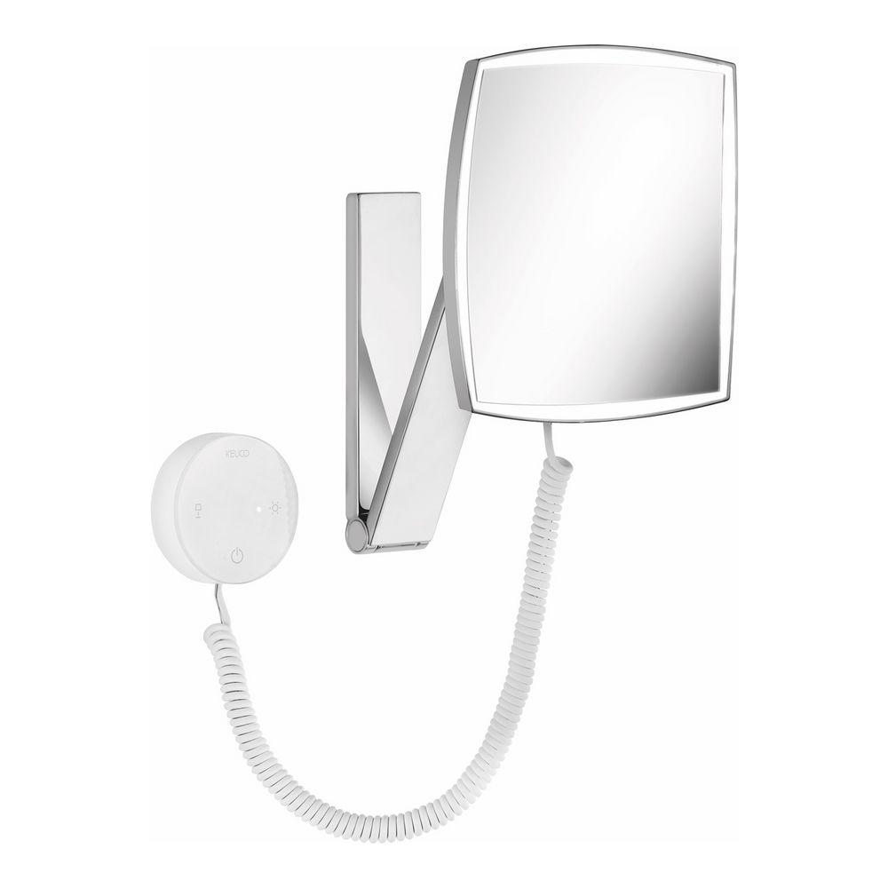 keuco ilook move kosmetikspiegel 5 fach eckig beleuchtet mit kabel design in bad. Black Bedroom Furniture Sets. Home Design Ideas