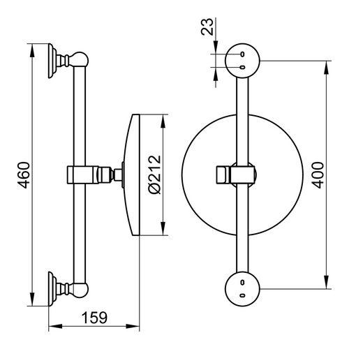 keuco astor kosmetikspiegel 5 fach wandstange unbeleuchtet design in bad. Black Bedroom Furniture Sets. Home Design Ideas