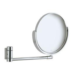 PLAN Kosmetikspiegel 2,5-fach, unbeleuchtet, Wandmodell, Alu silber-eloxiert