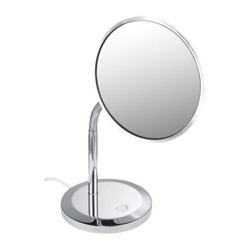 keuco elegance kosmetikspiegel 5 fach beleuchtet standmodell design in bad. Black Bedroom Furniture Sets. Home Design Ideas