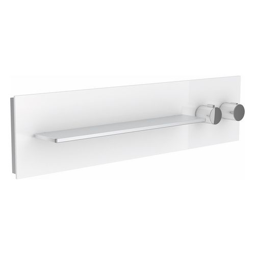 Thermostatbatterie meTime_spa 56162 2 Verbraucher, Griffe re, Glas cashmere