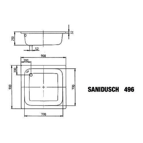 """Kaldewei """"Sanidusch"""" Duschwanne 90 × 90 × 25 cm 1"""