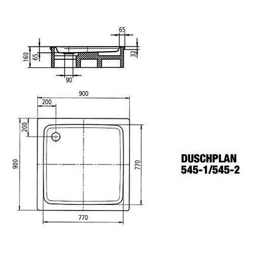 kaldewei duschplan ambiente stahl duschwanne 545 1 90 x 90. Black Bedroom Furniture Sets. Home Design Ideas