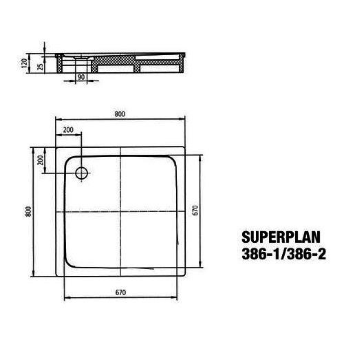 """Kaldewei """"Superplan"""" Duschwanne 80 × 80 × 2,5 cm 1"""