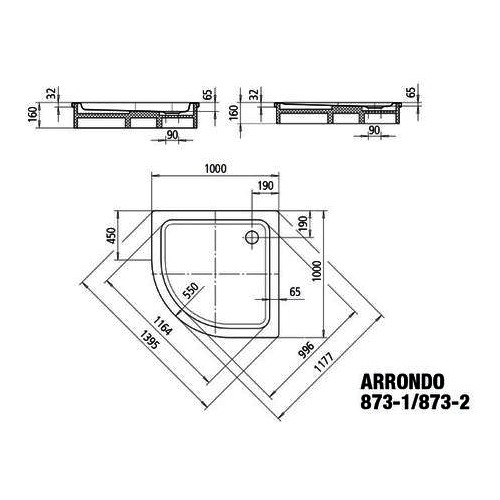 "Kaldewei Duschwanne ""Arrondo"" 100 × 100 × 6,5 cm 1"