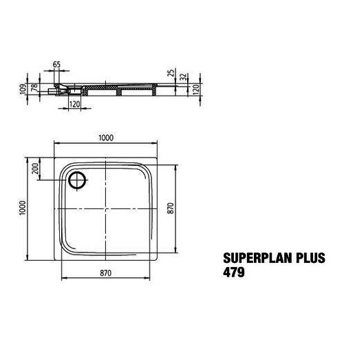 kaldewei superplan plus stahl duschwanne 479 1 100 x 100 x. Black Bedroom Furniture Sets. Home Design Ideas