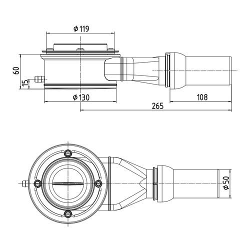 kaldewei spezial ablaufgarnitur ka 125 4097 f r esr ii waagerechter abgang design in bad. Black Bedroom Furniture Sets. Home Design Ideas