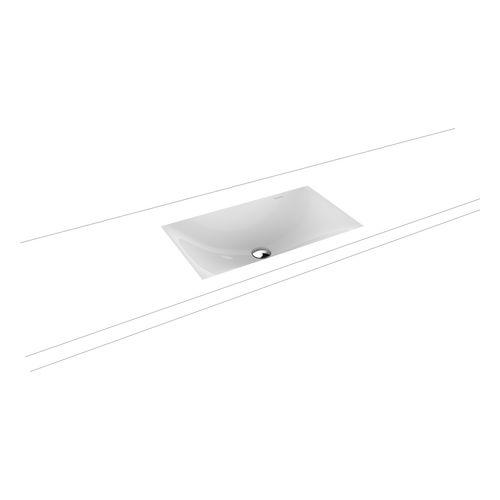 Silenio Unterbauwaschtisch ohne Überlauf, mit Perl-Effekt, L: 63,4 × B: 39,1 cm