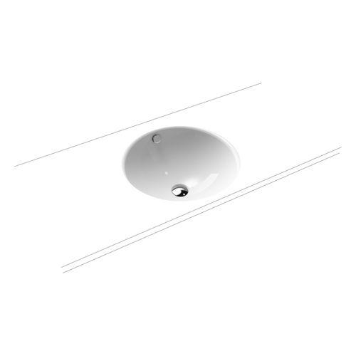 Classic - Unterbauwaschtisch mit Überlauf inklusive Perl-Effekt ⌀ 42 cm