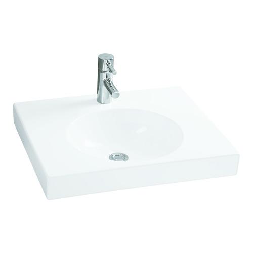Geberit (ehem. Keramag) Waschtisch Preciosa II m HL, ohne ÜL, 600x500mm 123262 0