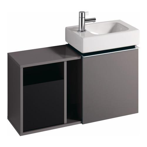 iCon xs Handwaschbecken mit Hahnloch links 380x280 mm