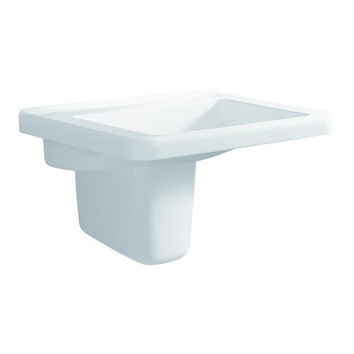 Renova Nr. 1 Comfort Waschtisch 55 x 53 unterfahrbar ohne Hahnloch ohne Überlauf