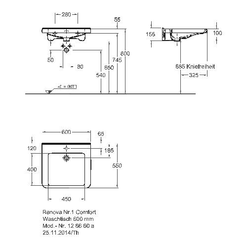 keramag renova nr 1 comfort waschtisch unterfahrbar mit hahnloch mit berlauf design in bad. Black Bedroom Furniture Sets. Home Design Ideas