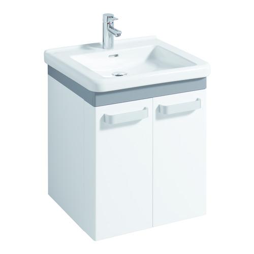 Renova Nr. 1 Comfort Waschtisch 60 x 55 unterfahrbar mit Hahnloch mit Überlauf