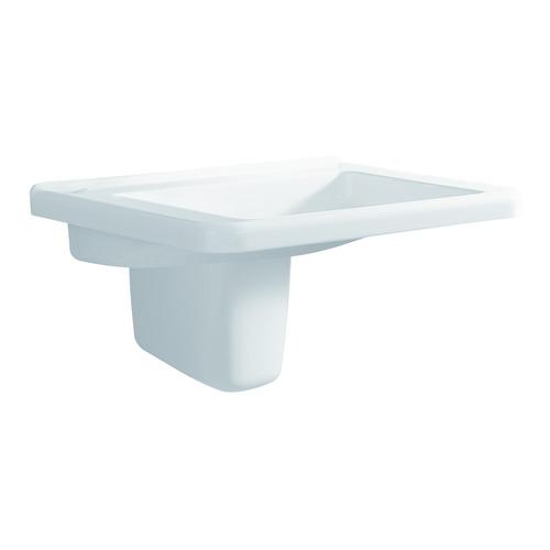 Renova Nr. 1 Comfort Waschtisch 60 x 55 unterfahrbar ohne Überlauf ohne Hahnloch