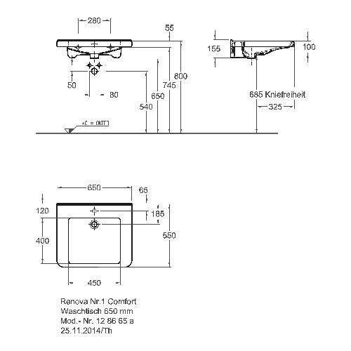 keramag renova nr 1 comfort waschtisch unterfahrbar mit berlauf mit hahnloch design in bad. Black Bedroom Furniture Sets. Home Design Ideas