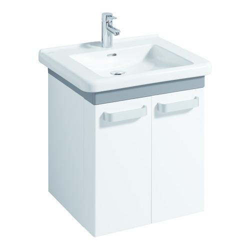 Renova Nr. 1 Comfort Waschtisch 65 x 55 unterfahrbar mit Überlauf mit Hahnloch