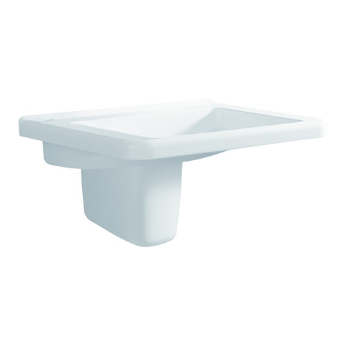 Renova Nr. 1 Comfort Waschtisch 65 x 55 unterfahrbar ohne Überlauf ohne Hahnloc