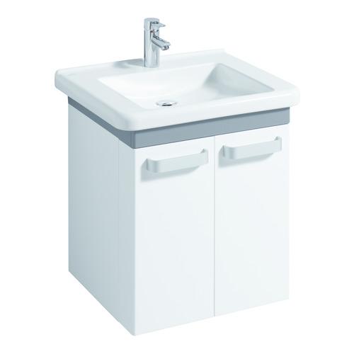 Renova Nr. 1 Comfort Waschtisch 65 x 55 unterfahrbar ohne Überlauf mit Hahnloch