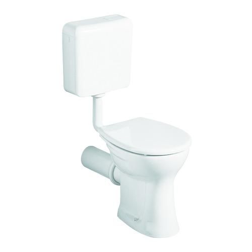 Renova Nr. 1 Flachspül-WC bodenstehend, Abgang waagerecht 35,5 x 39 cm weiß