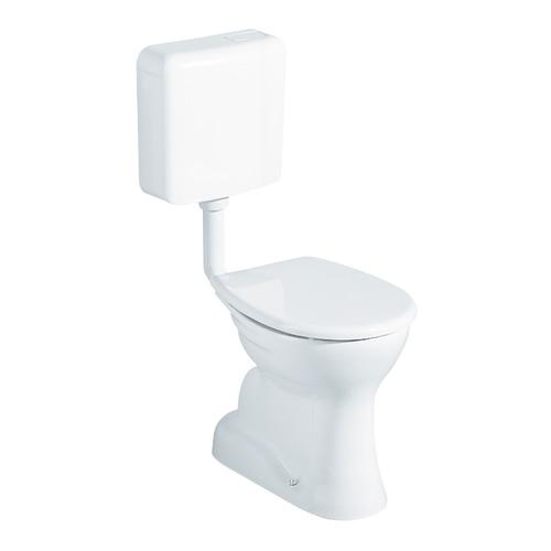 Renova Nr. 1 Flachspül-WC bodenstehend, Abgang senkrecht 35,5 x 39 cm weiß