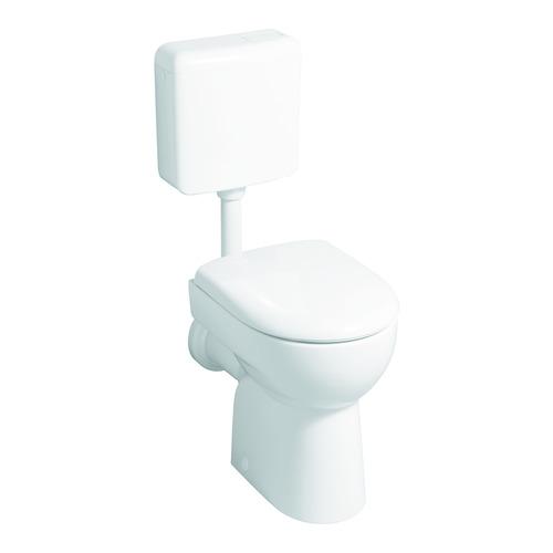 Renova Nr. 1 Flachspül-WC bodenstehend, Abgang waagerecht 35,5 x 41 cm weiß