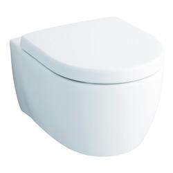 Tiefspül-WC iCon, 54 cm 6l, wandhängend 204000600 mit Spülrand und KeraTect