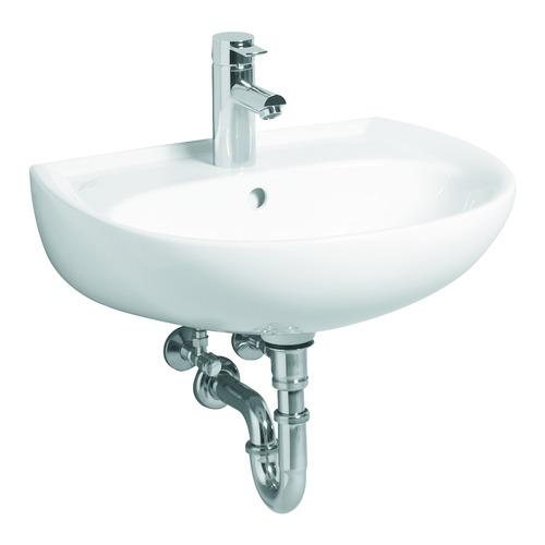 Renova Nr. 1  Waschtisch mit Hahnloch, mit Überlauf 55 x 45 cm weiß