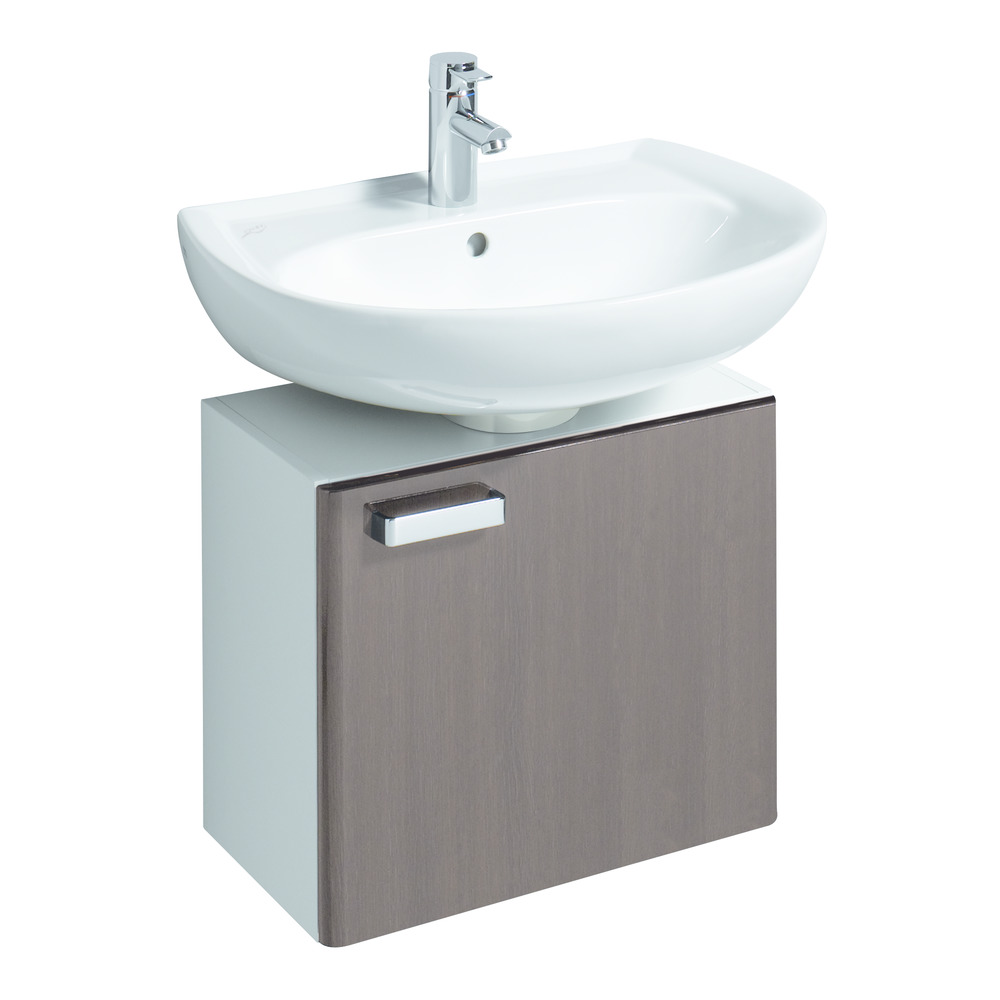 keramag renova nr 1 waschtisch 65 x 51 cm hl l manhattan 223065 design in bad. Black Bedroom Furniture Sets. Home Design Ideas
