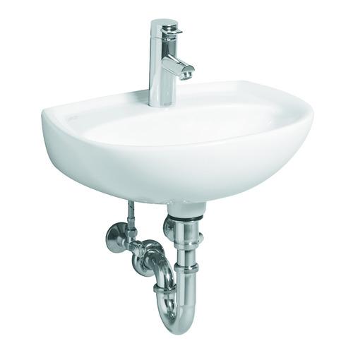 Renova Nr. 1 Handwaschbecken mit Hahnloch ohne Überlauf 45 x 34 cm weiß