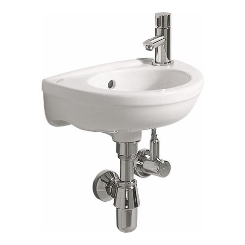 Fidelio Handwaschbecken mit Hahnloch rechts, mit Überlauf 37 x 25 cm weiß