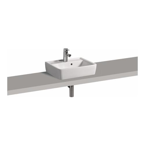 Renova Nr. 1 Plan Aufsatz-Handwaschbecken 50 x 38 cm, m. HL, m. ÜL