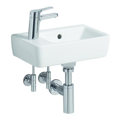 Renova Comprimo Neu Handwaschbecken 40 x 25 cm HL links 276240