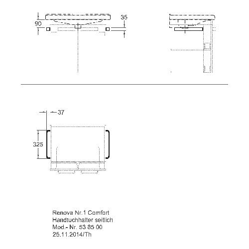 Renova Nr. 1 Comfort Handtuchhalter/Griff 538500