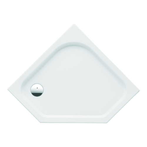RENOVA Nr. 1, 5-Eck-Duschwanne 652220 90x90x6 cm