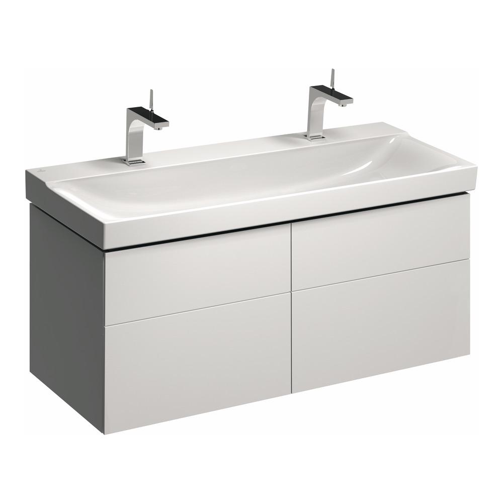 keramag xeno2 waschtischunterschrank 1174x530 wei lack. Black Bedroom Furniture Sets. Home Design Ideas