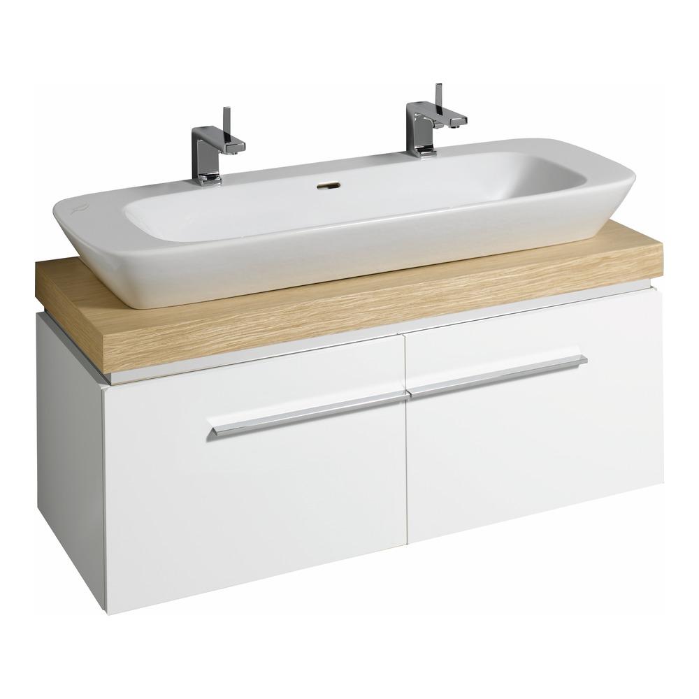 keramag silk waschtisch unterschrank 120x40x47 wei 816022 design in bad. Black Bedroom Furniture Sets. Home Design Ideas