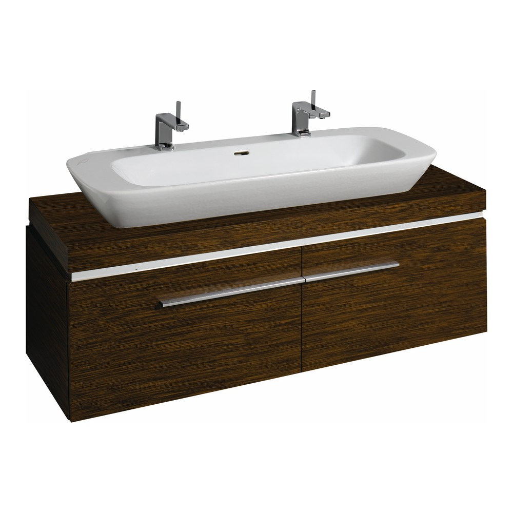 keramag silk waschtisch unterschrank 140x40x47 wenge 816041 design in bad. Black Bedroom Furniture Sets. Home Design Ideas