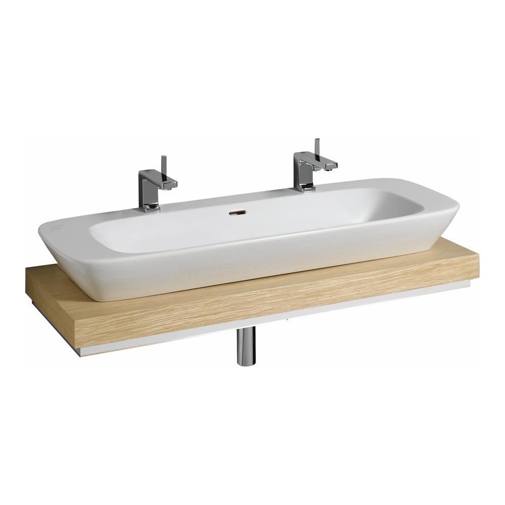 keramag silk waschtisch platte 120x10 aus mittig eiche 816220 design in bad. Black Bedroom Furniture Sets. Home Design Ideas