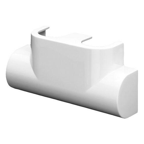 Designblende weiß zur Abdeckung des Kermi-Hahnblocks für 50 mm-Anschluss