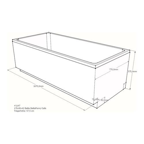Wannenträger Bette BetteForm/-Safe 170x80x42 cm AF