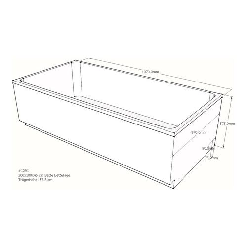 Wannenträger Bette BetteFree 200x100x45 cm AM